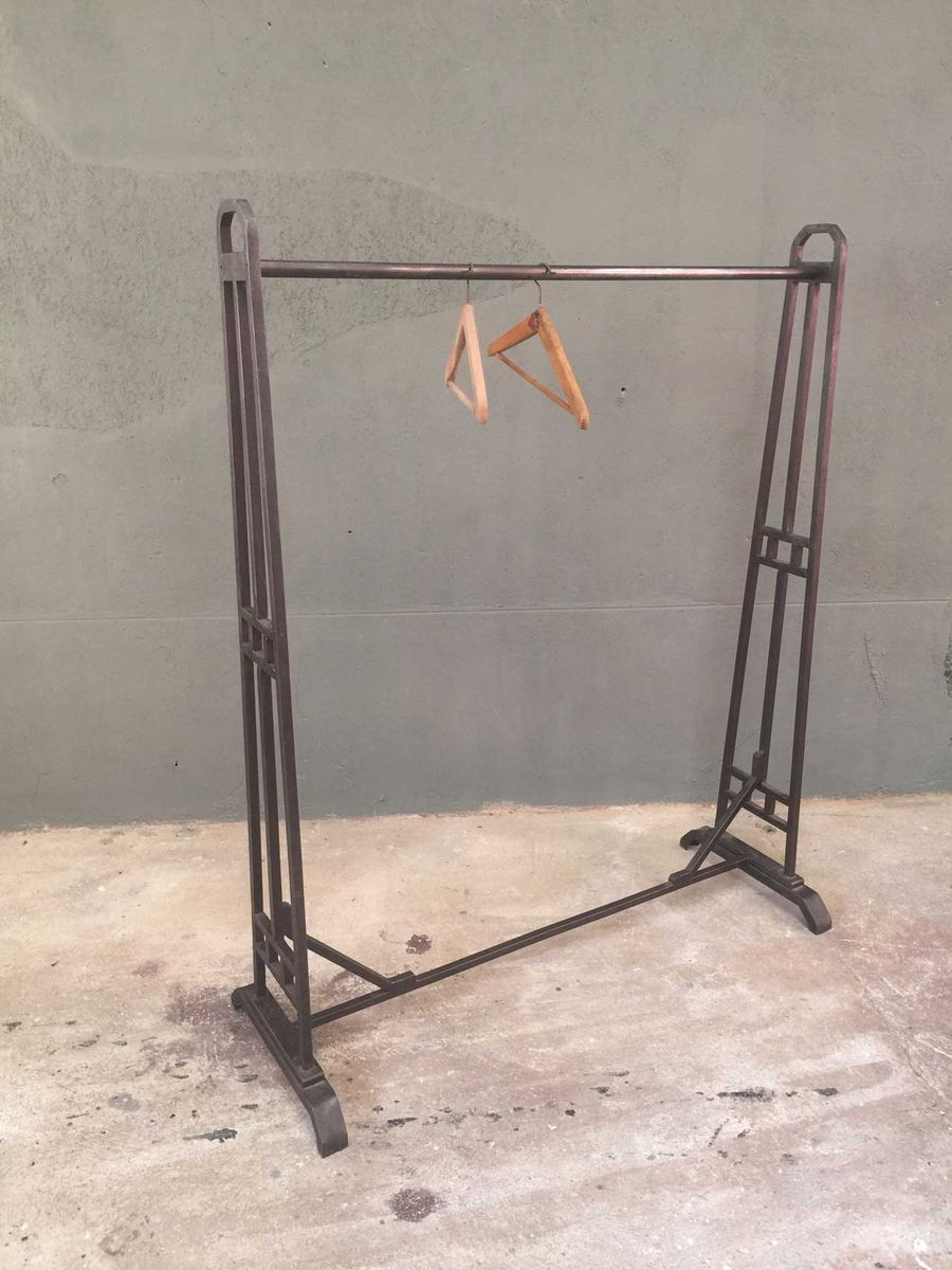 Vintage Industrial Metal Clothes Rail for sale at Pamono