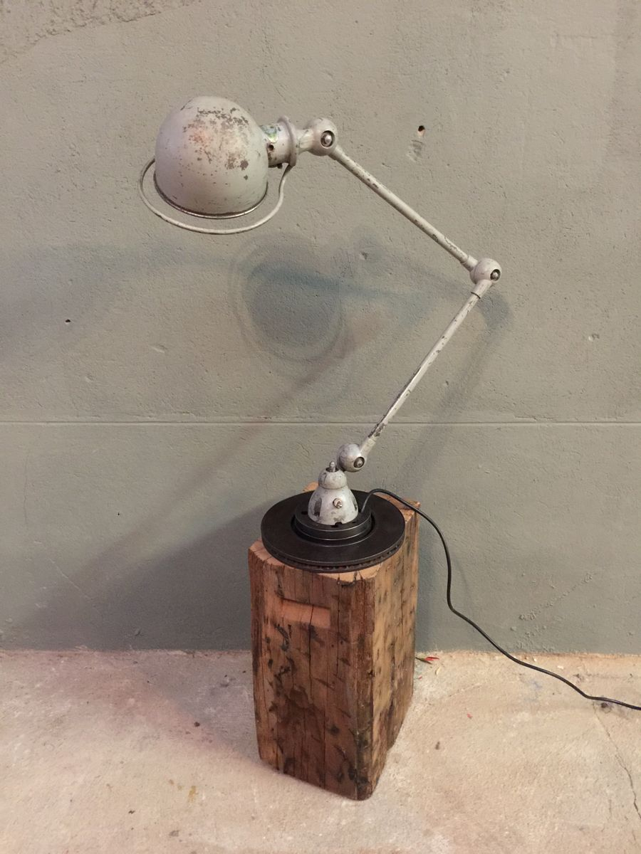 Lampada da tavolo vintage industriale regolabile di jean - Lampada da tavolo vintage ...