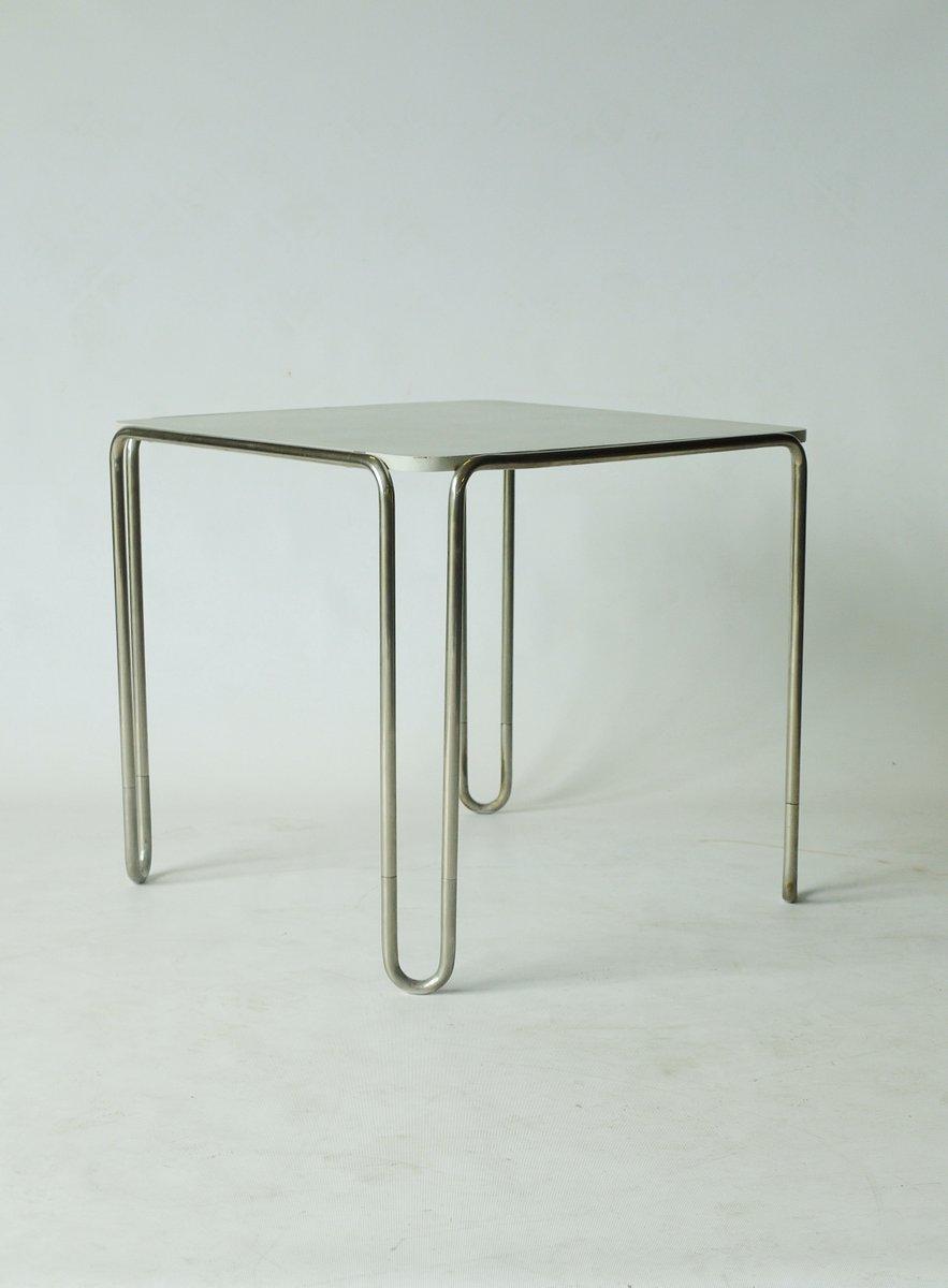 modell b10 tisch von marcel breuer f r thonet bei pamono. Black Bedroom Furniture Sets. Home Design Ideas