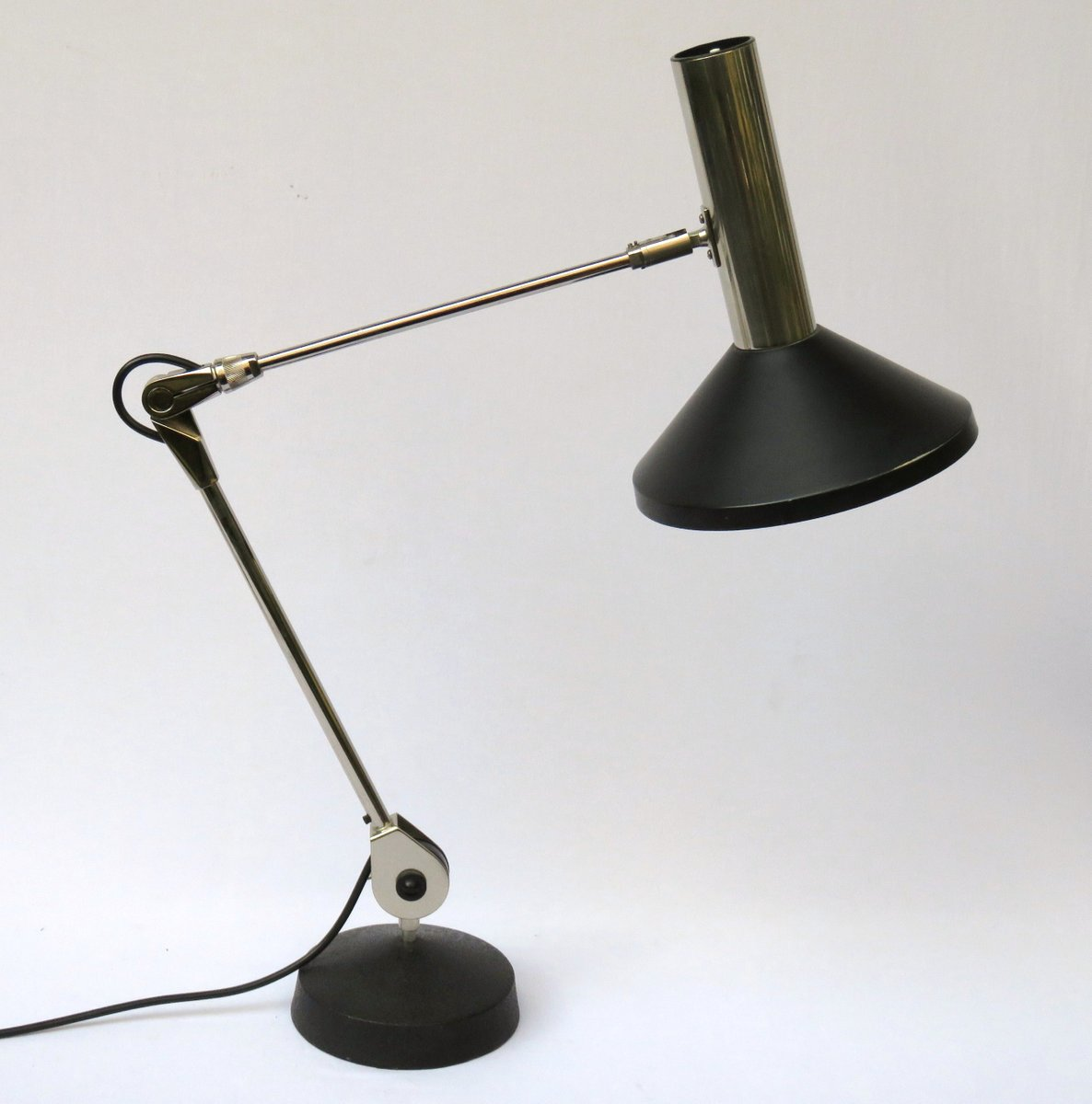 Vintage two arm adjustable table lamp for sale at pamono for 2 arm table lamp