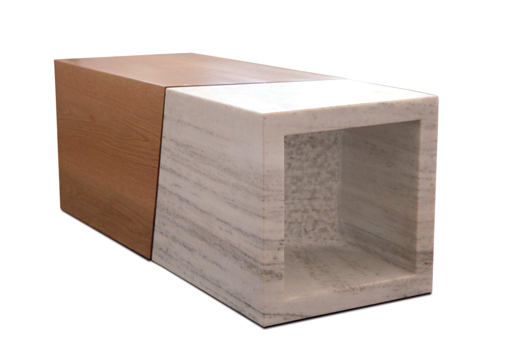 couchtisch aus holz mit marmor von maria vidali bei pamono. Black Bedroom Furniture Sets. Home Design Ideas