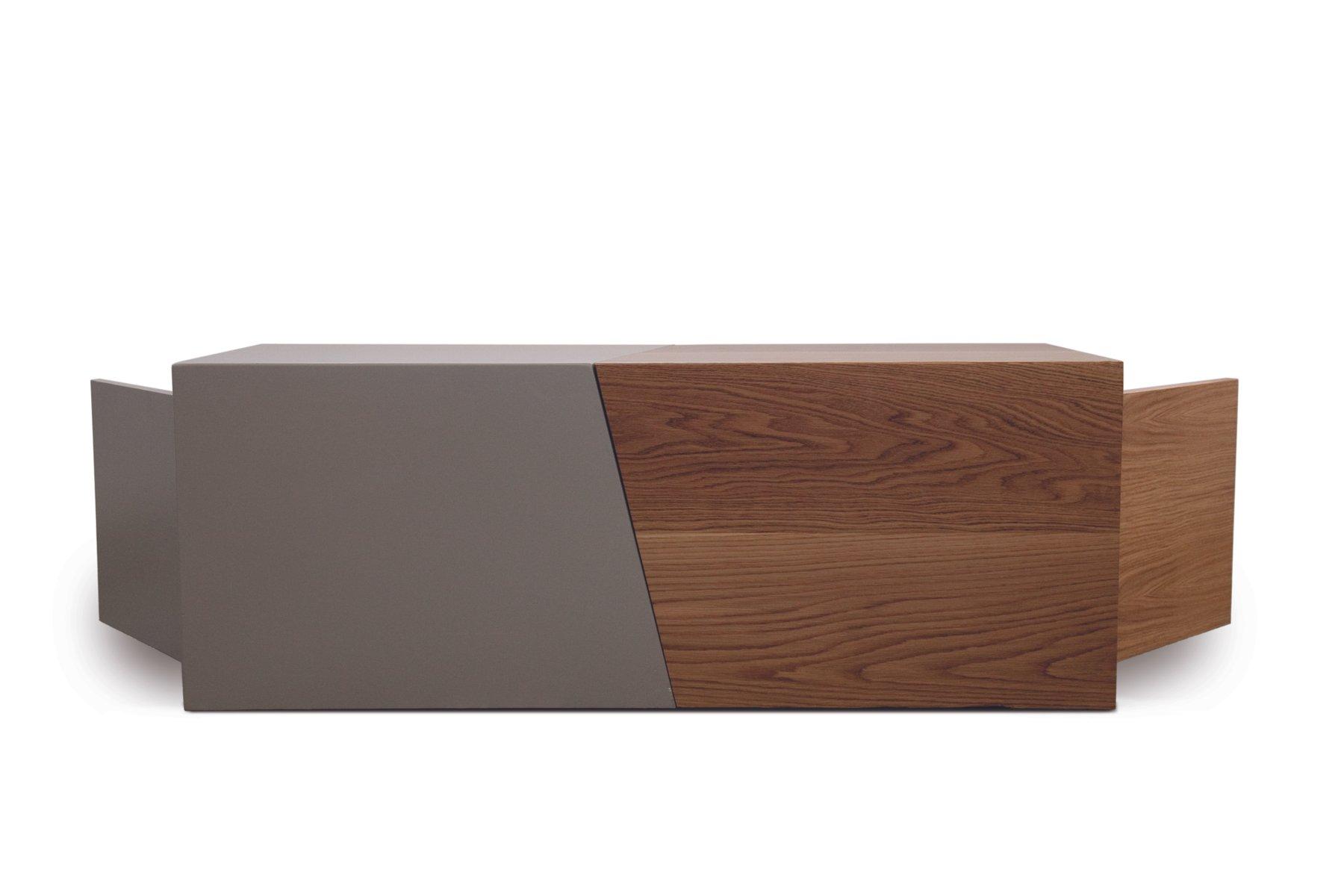 composition couchtisch aus holz mit beigen lack von maria vidali bei pamono kaufen. Black Bedroom Furniture Sets. Home Design Ideas