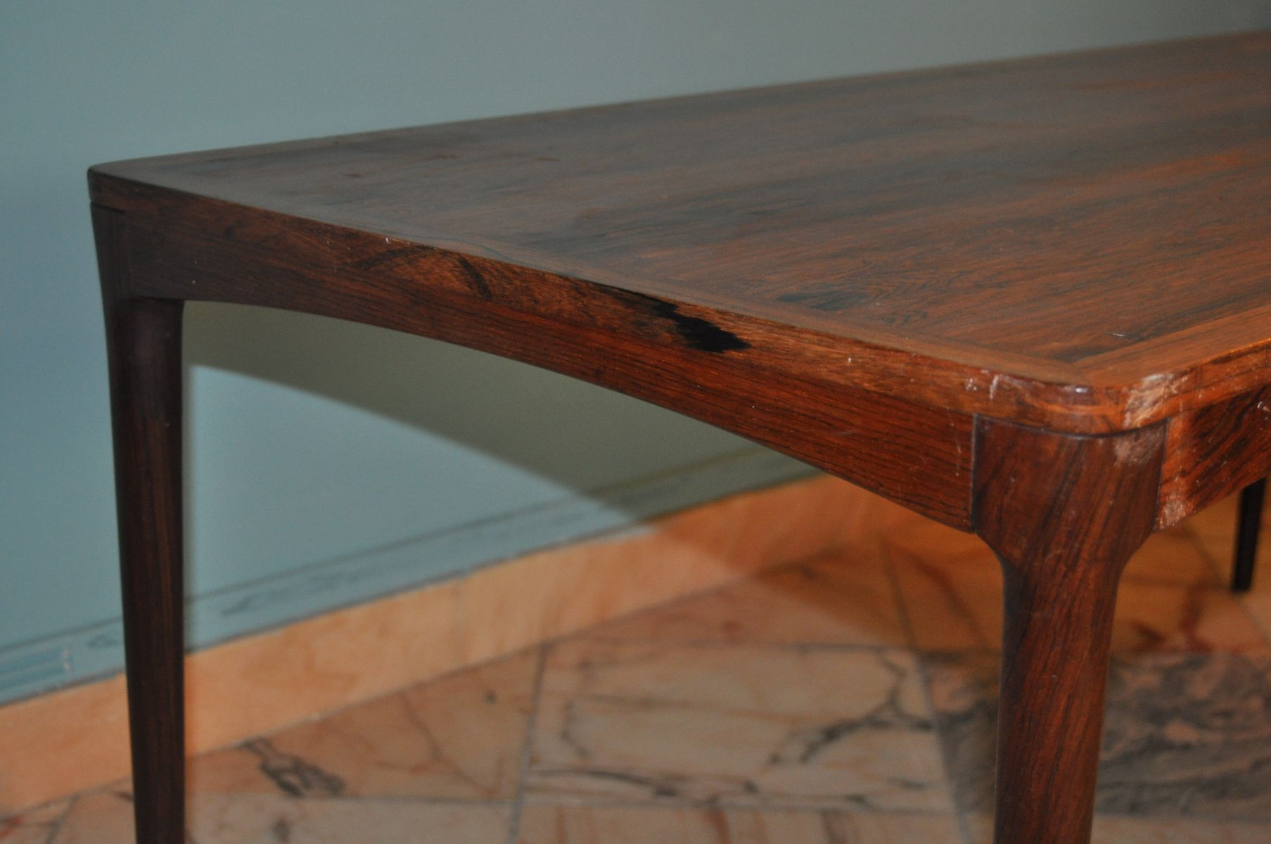 Low Rosewood Coffee Table By Haug Bruksbo For Sale At Pamono