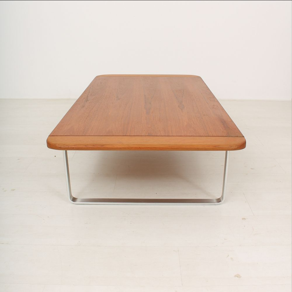 Teak Aluminum Coffee Table 1960s For Sale At Pamono