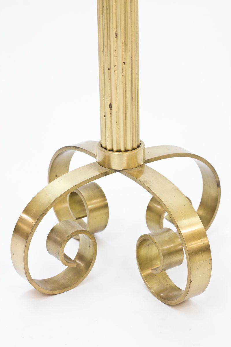 Brass Candlesticks large scandinavian brass candlesticks for ystad metall, 1940s, set