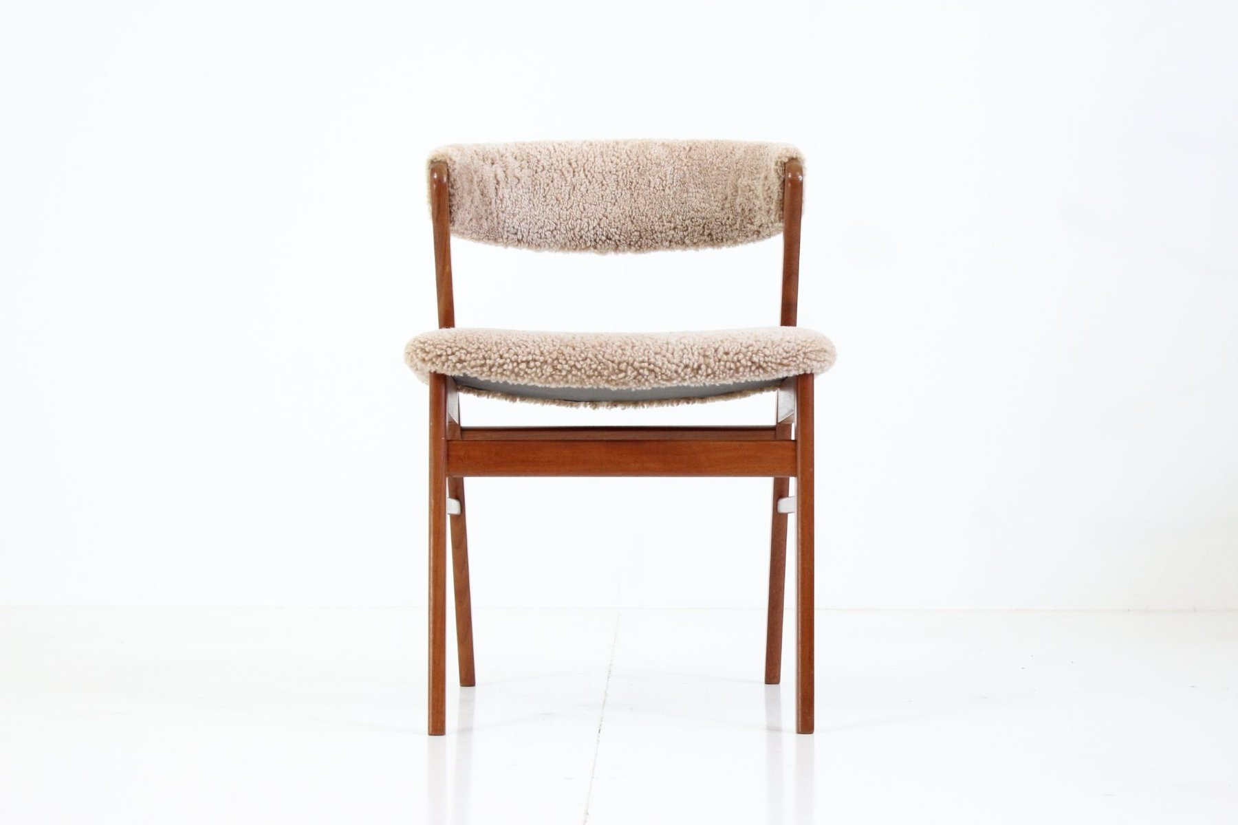 Vintage Sheepskin Side Chair 1960s for sale at Pamono