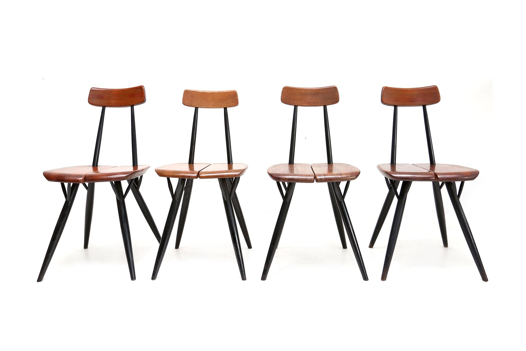 pirkka chairs by ilmari tapiovaara set of 4 for sale at pamono. Black Bedroom Furniture Sets. Home Design Ideas