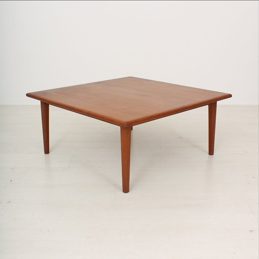 vintage scandinavian teak coffee table for sale at pamono. Black Bedroom Furniture Sets. Home Design Ideas