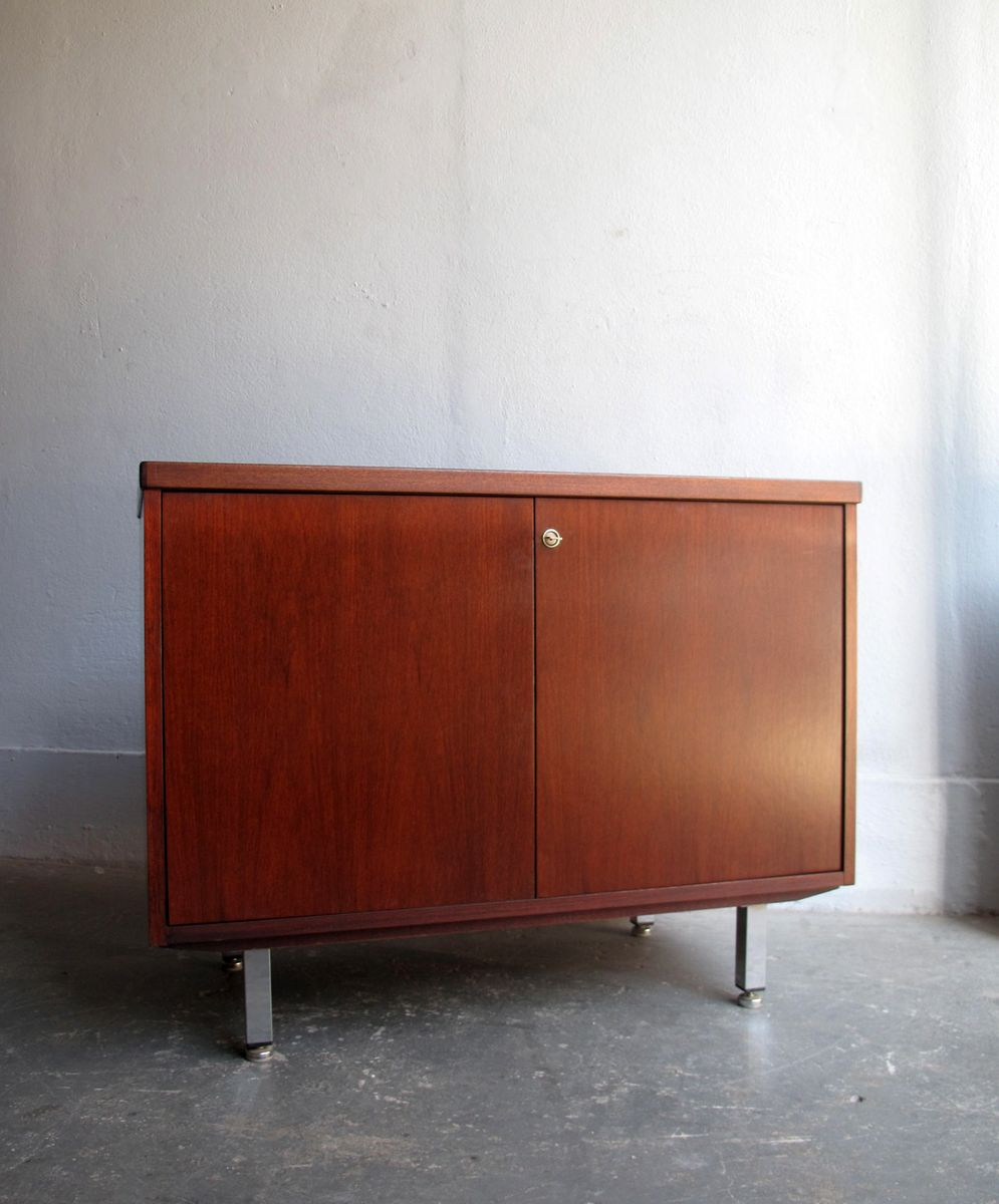office sideboard. Vintage Rosewood And Chrome Office Sideboard