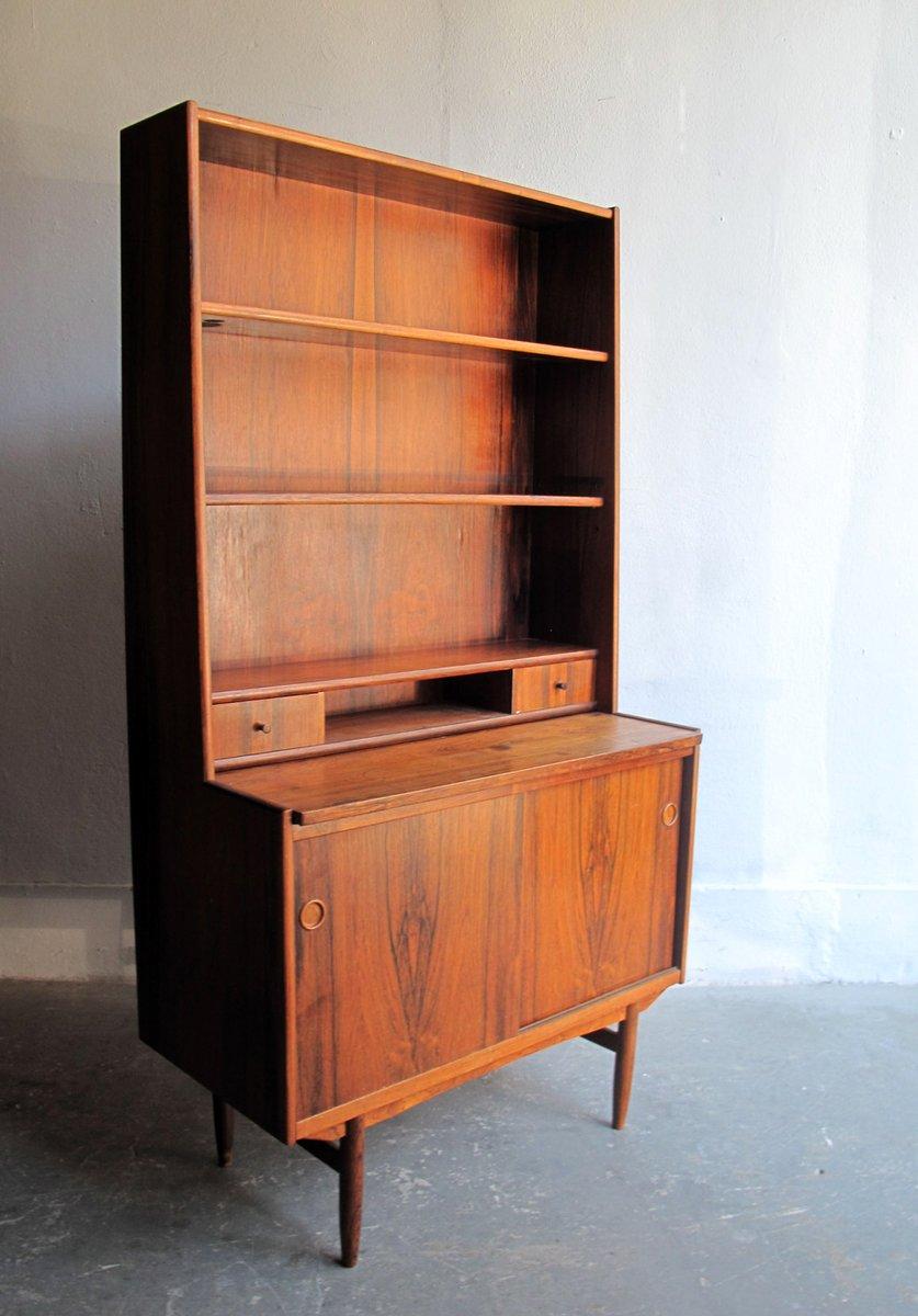 vintage palisander b cherregal mit schreibtisch bei pamono kaufen. Black Bedroom Furniture Sets. Home Design Ideas