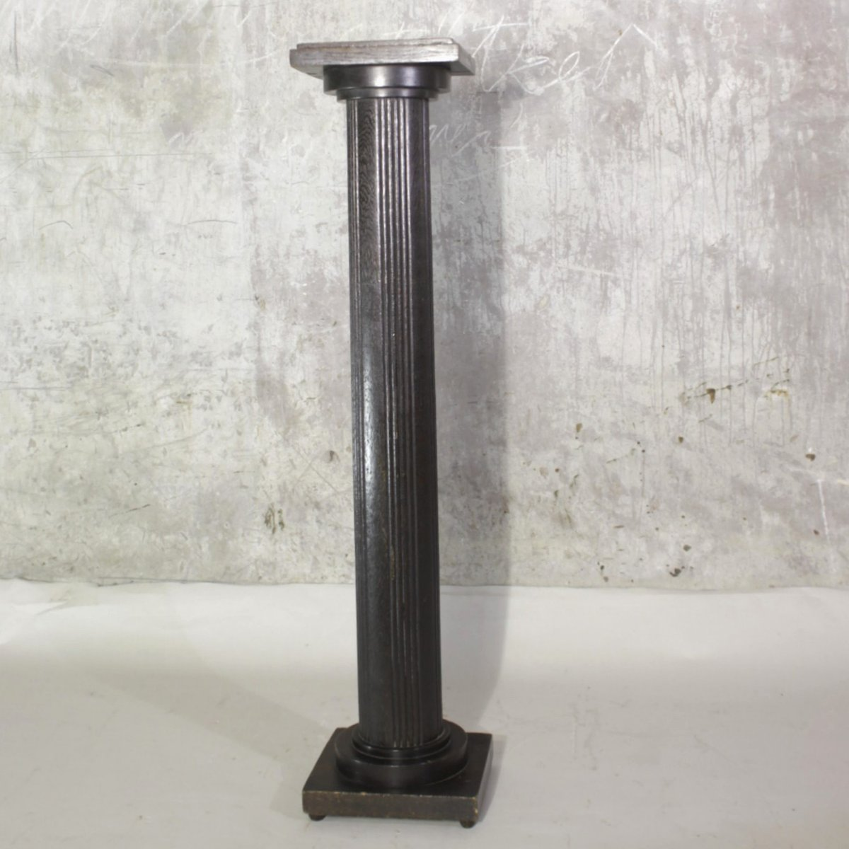 Tall Antique Wooden Flower Stand for sale at Pamono