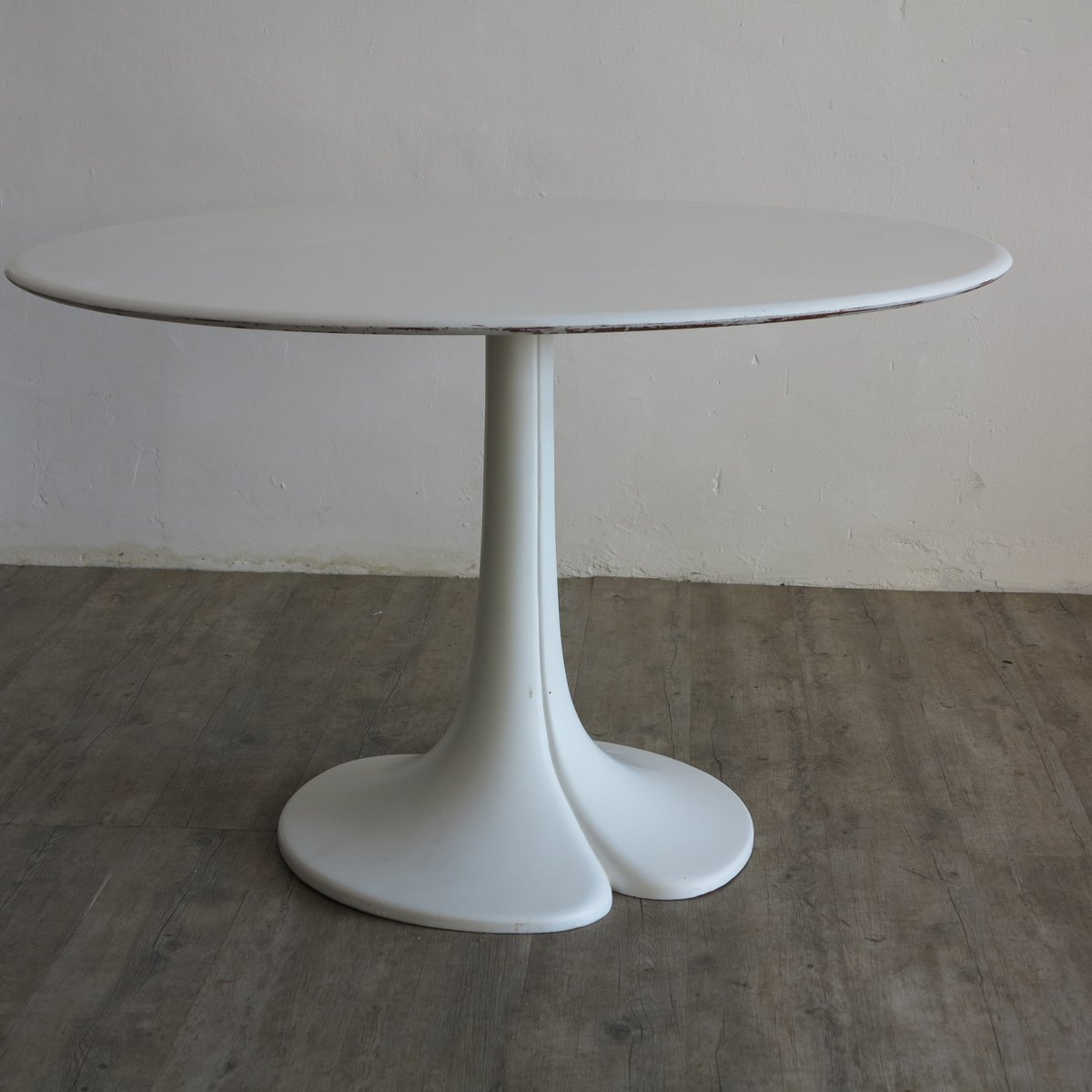 Vintage French Wood & Plastic Coffee Table, 1960s For Sale