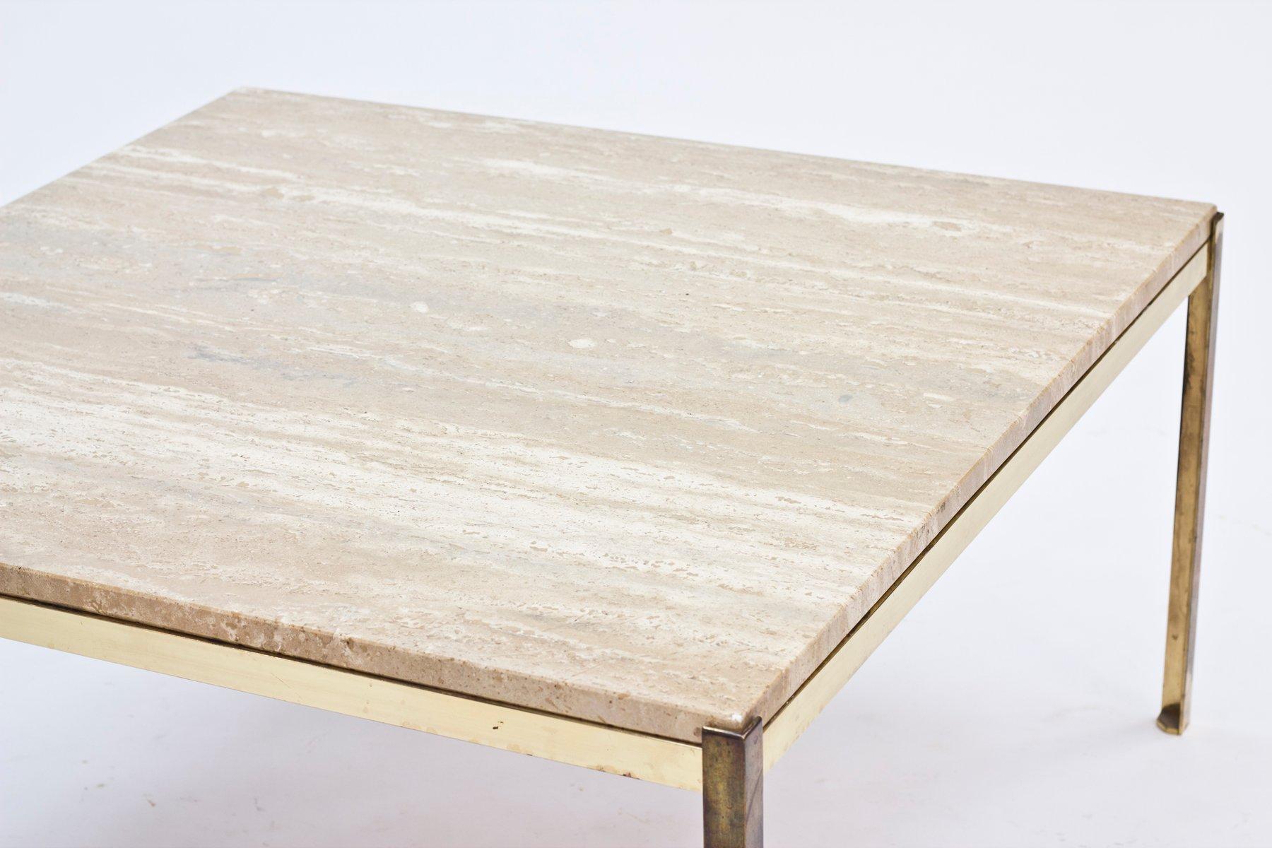 Table basse en verre et laiton - Table en verre basse ...