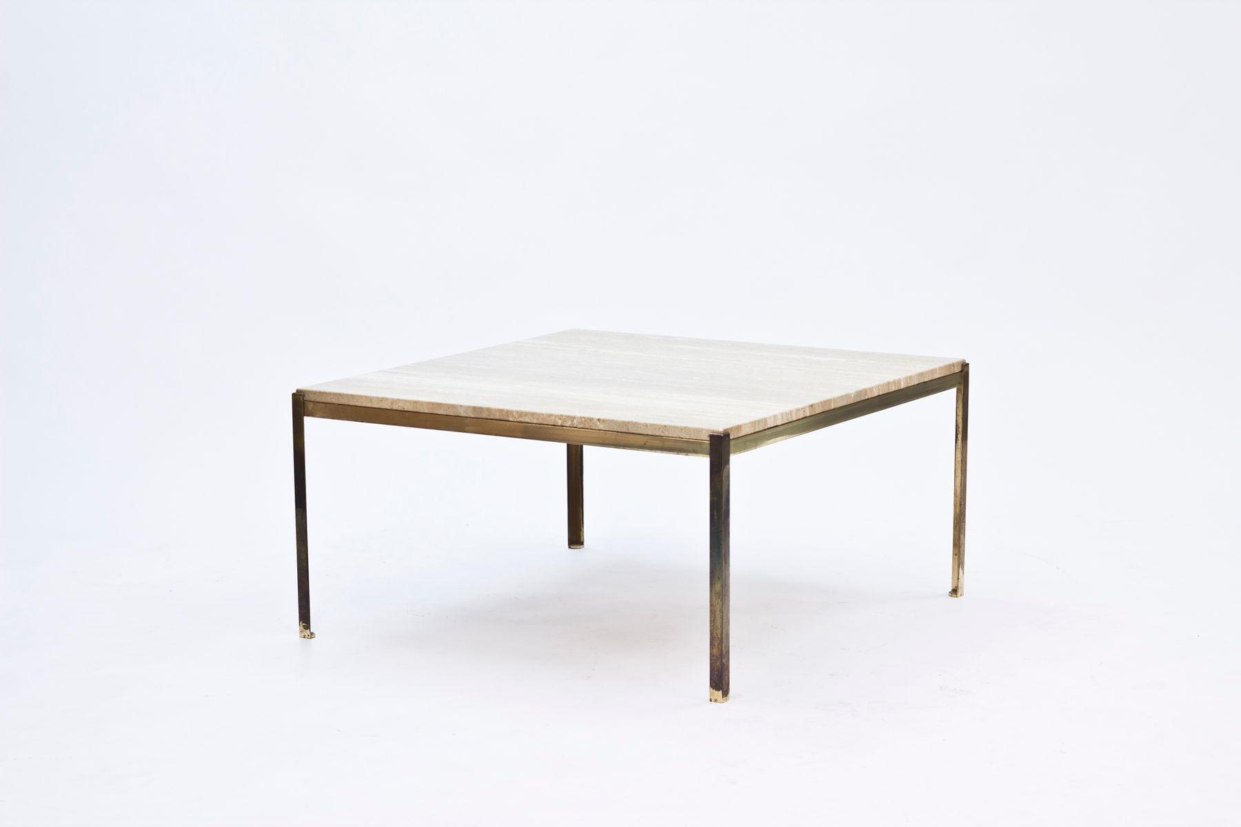 Table basse en verre et laiton for Table basse en s