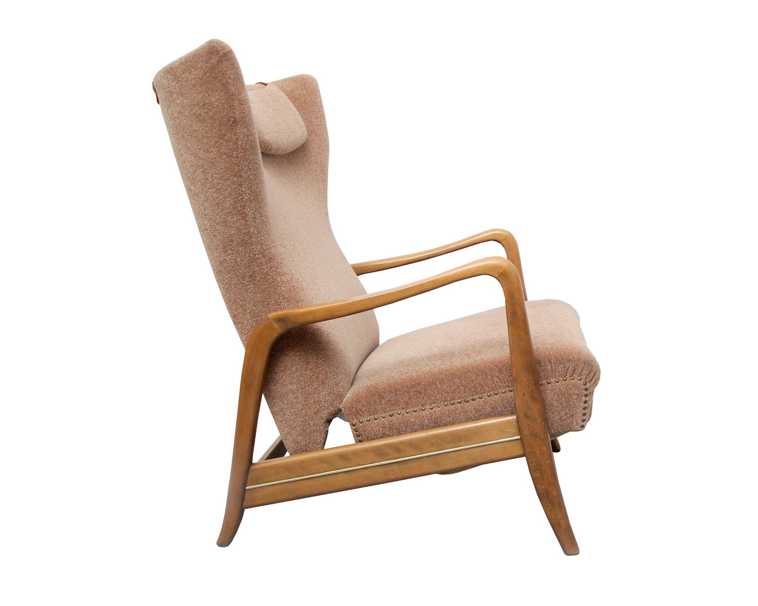 Reclining Wingback Chair 1950s for sale at Pamono