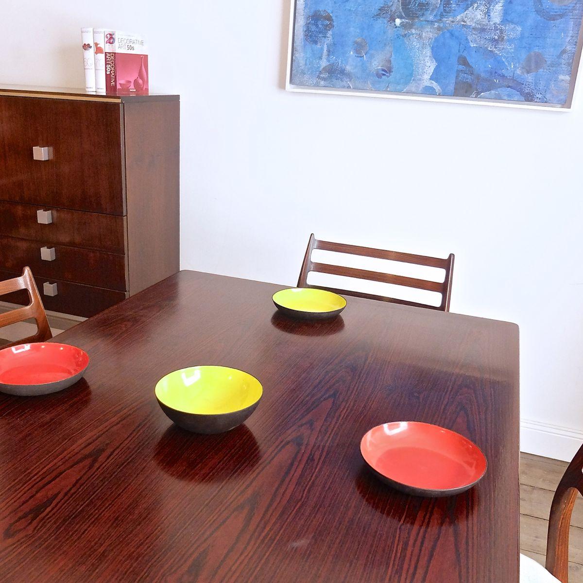 Table de salle manger en palissandre par henning for Salle a manger annee 1960