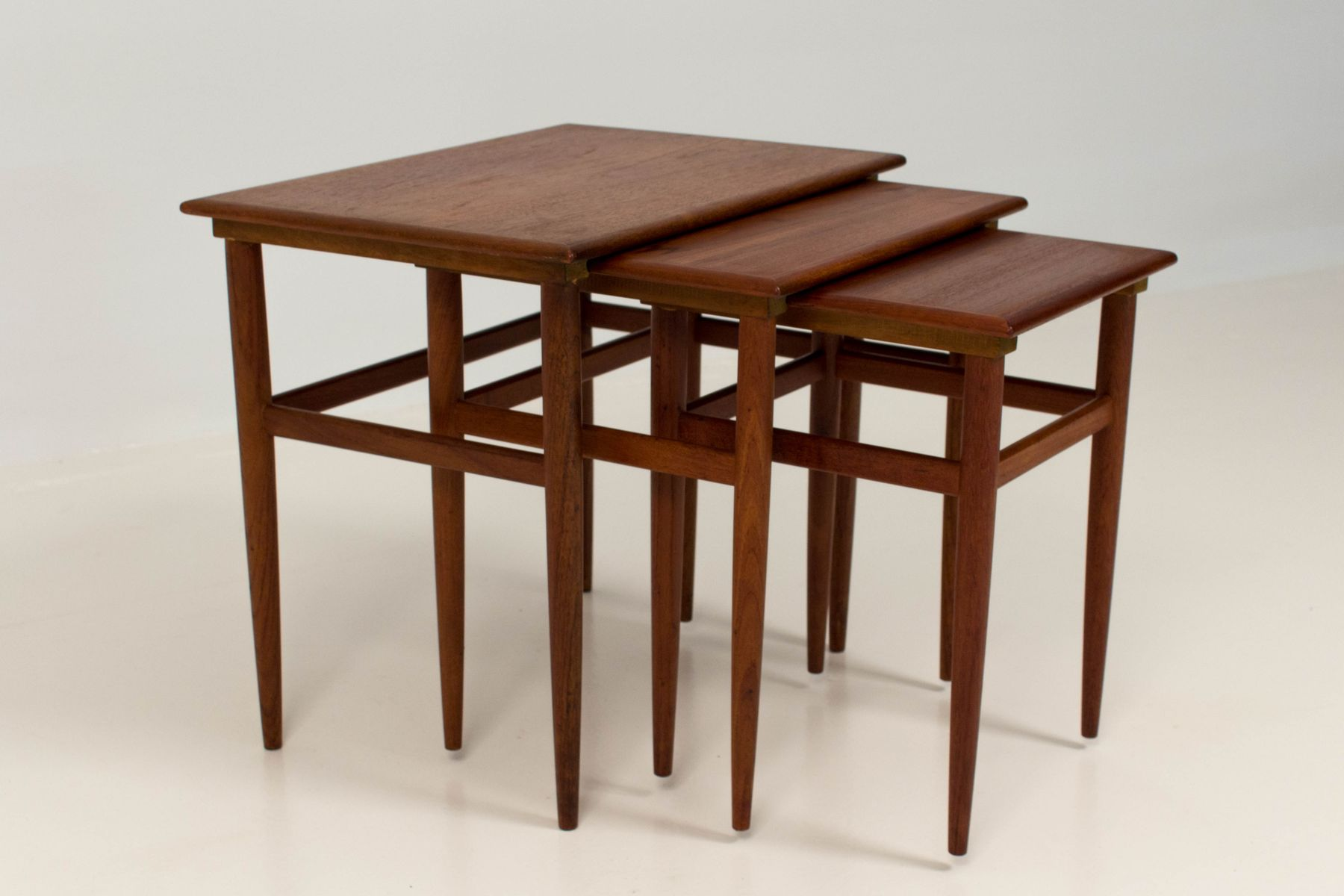 Amazing photo of Mid Century Modern Danish Nesting Tables 1960s for sale at Pamono with #3F1A08 color and 1801x1200 pixels