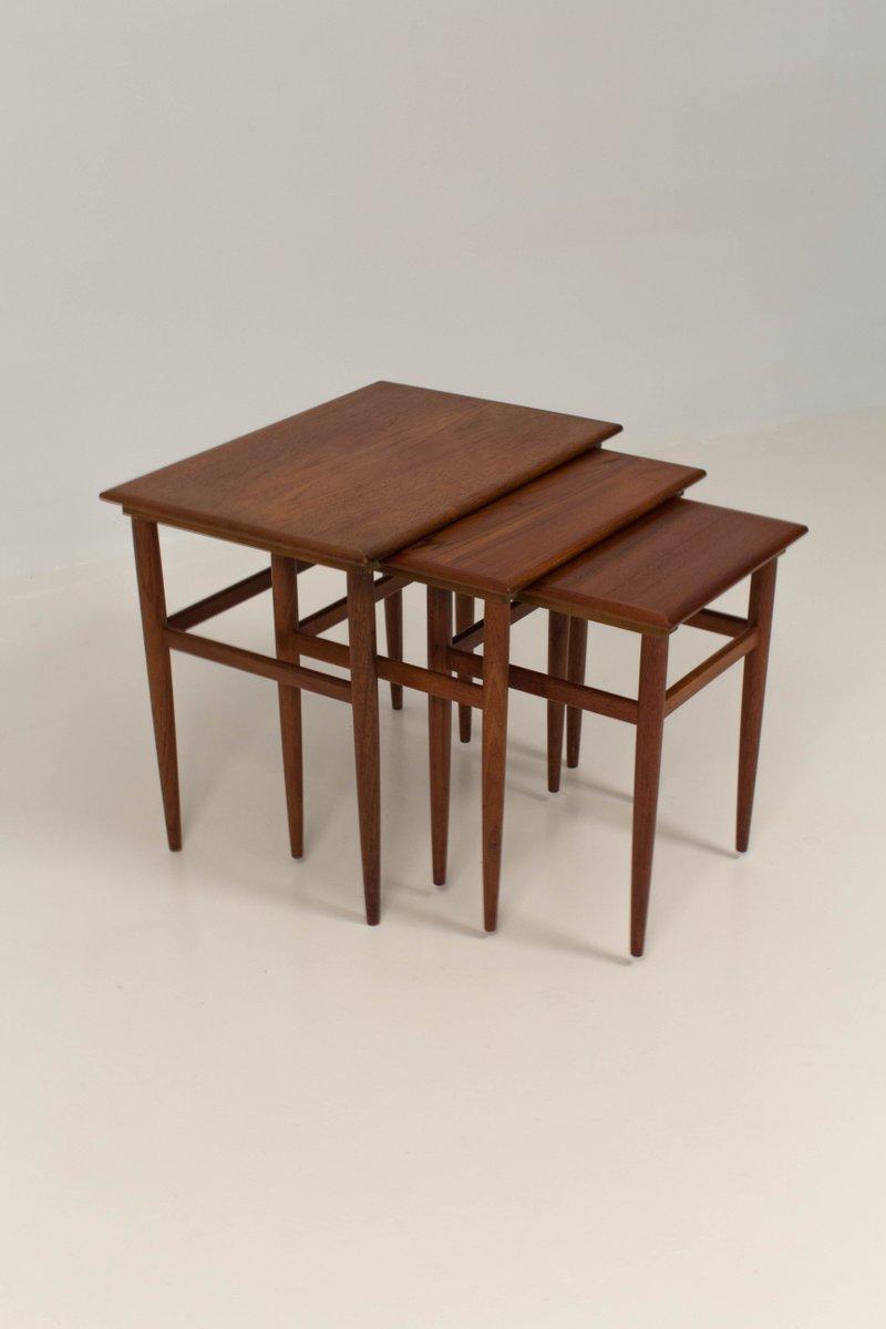 Mid Century Modern Danish Nesting Tables, 1960s