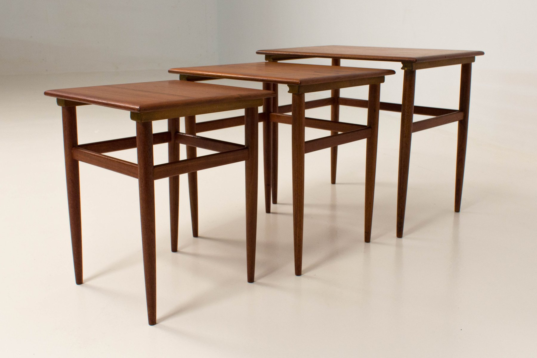 Amazing photo of Mid Century Modern Danish Nesting Tables 1960s for sale at Pamono with #411E0C color and 1800x1200 pixels