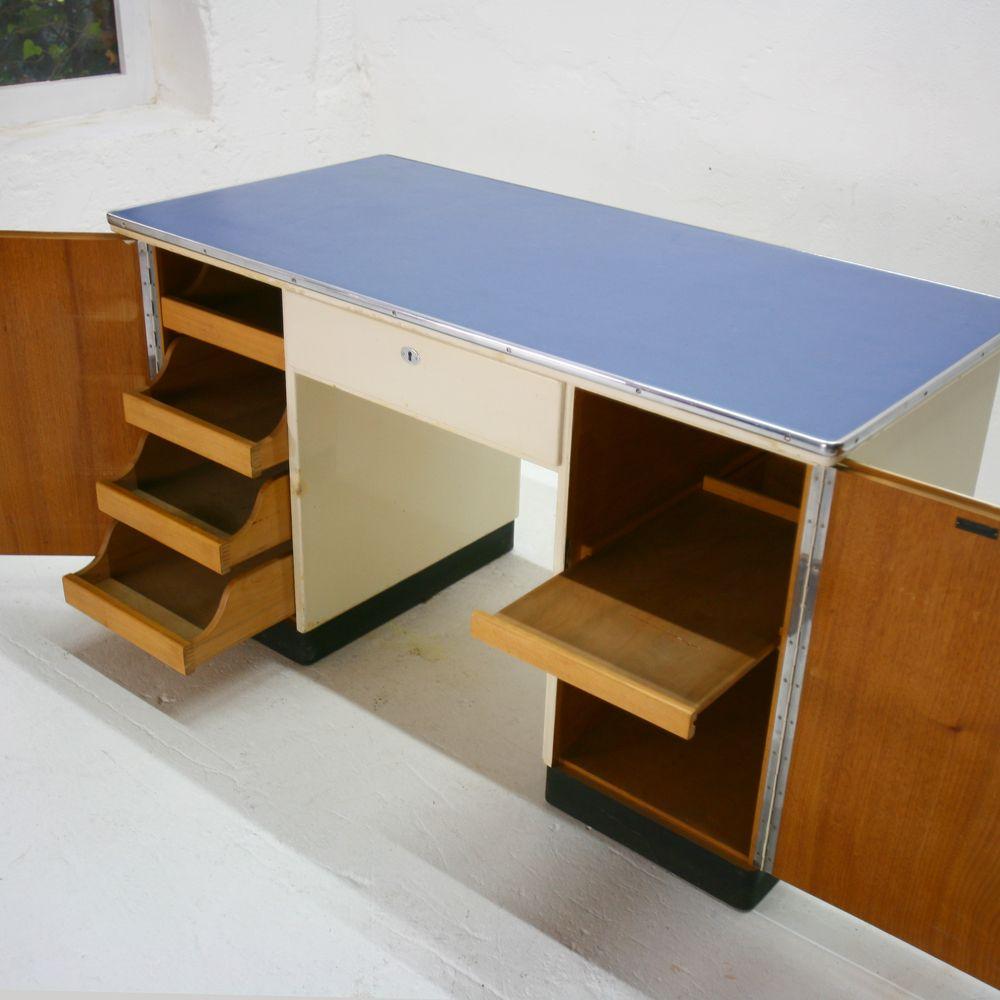 vintage arzt schreibtisch aus holz 1950er bei pamono kaufen. Black Bedroom Furniture Sets. Home Design Ideas