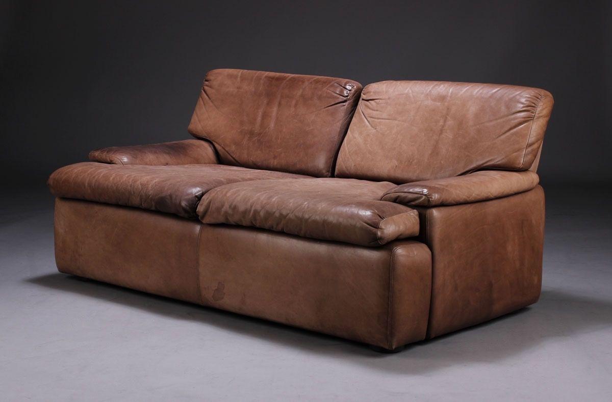 ledersofa 1970er bei pamono kaufen. Black Bedroom Furniture Sets. Home Design Ideas