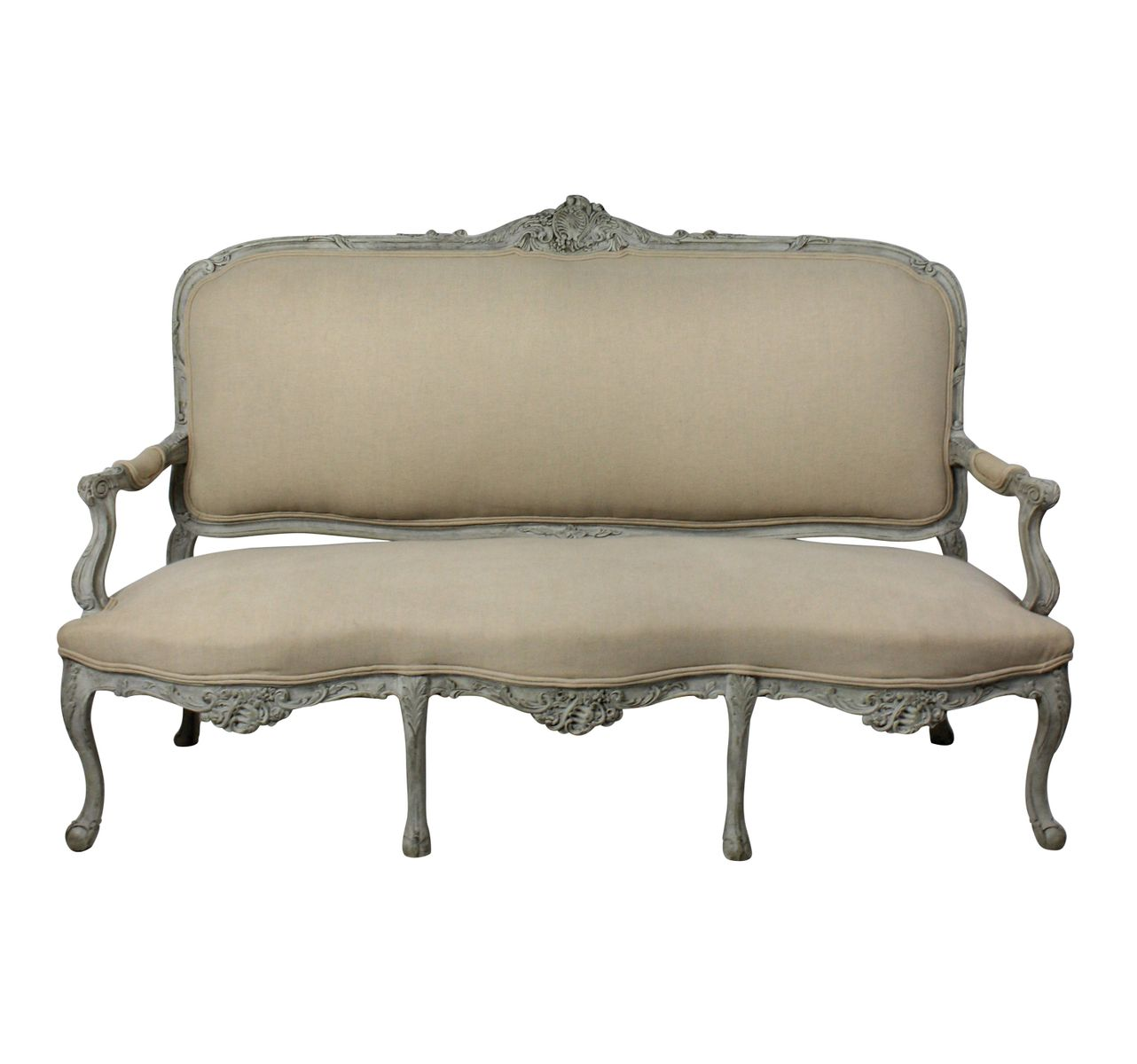 Large painted french canape 1860s for sale at pamono for Canape for sale