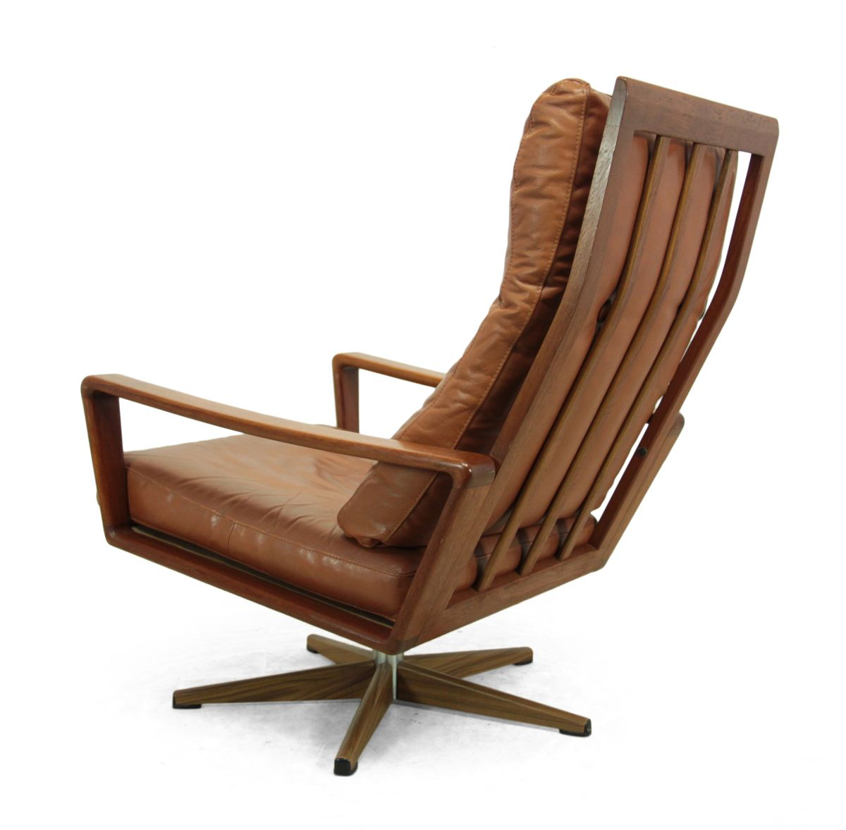 danish teak swivel chair 1960s for sale at pamono