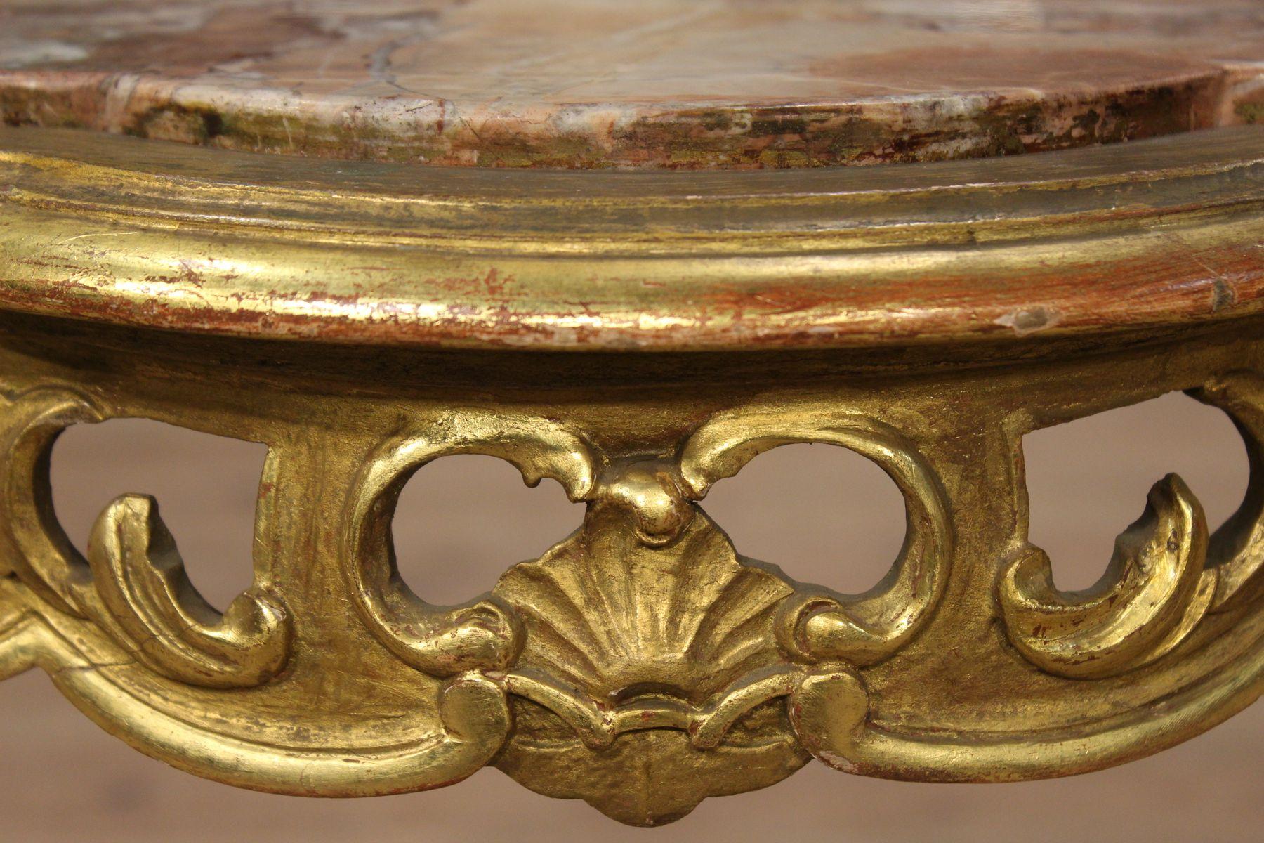 Table Basse Vintage avec Dessus en Marbre, Italie en vente sur Pamono -> Table Basse Avec Dessus En Marbre