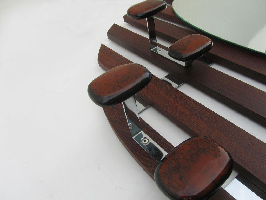 palisander garderobe mit spiegel bei pamono kaufen. Black Bedroom Furniture Sets. Home Design Ideas