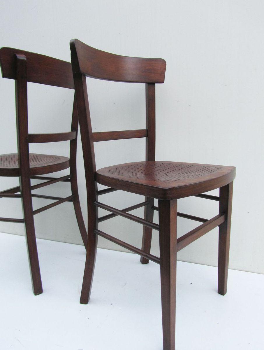 bistro st hle von michael thonet f r thonet 2er set bei pamono kaufen. Black Bedroom Furniture Sets. Home Design Ideas