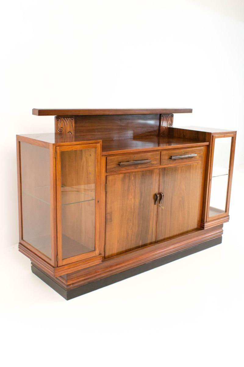 dutch rosewood art deco sideboard 1920s for sale at pamono. Black Bedroom Furniture Sets. Home Design Ideas