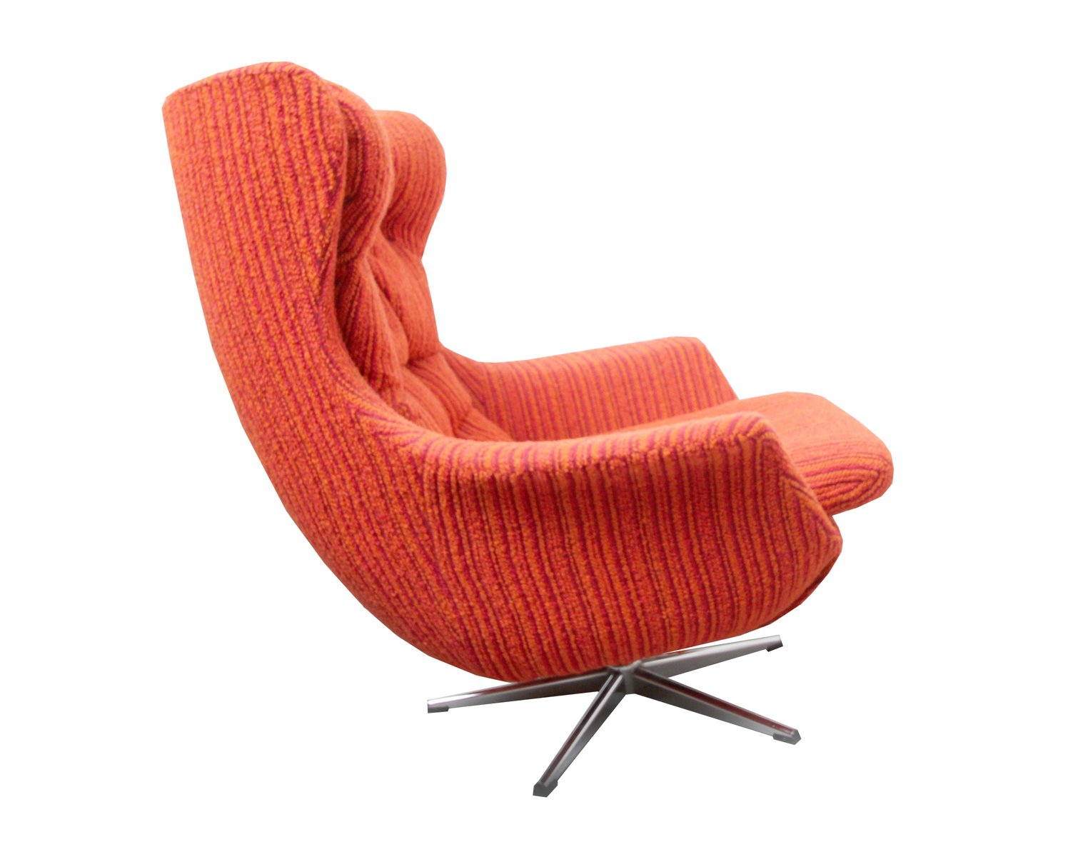 orangefarbener midcentury egg chair 1970er bei pamono kaufen. Black Bedroom Furniture Sets. Home Design Ideas