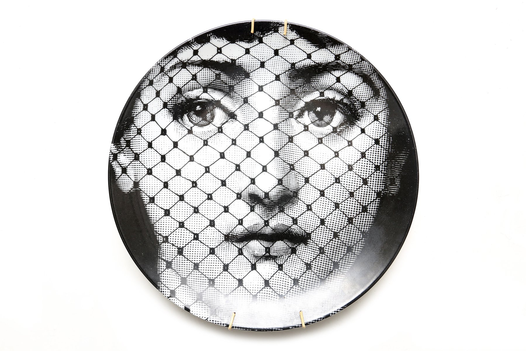 porcelain plate by piero fornasetti for sale at pamono. Black Bedroom Furniture Sets. Home Design Ideas