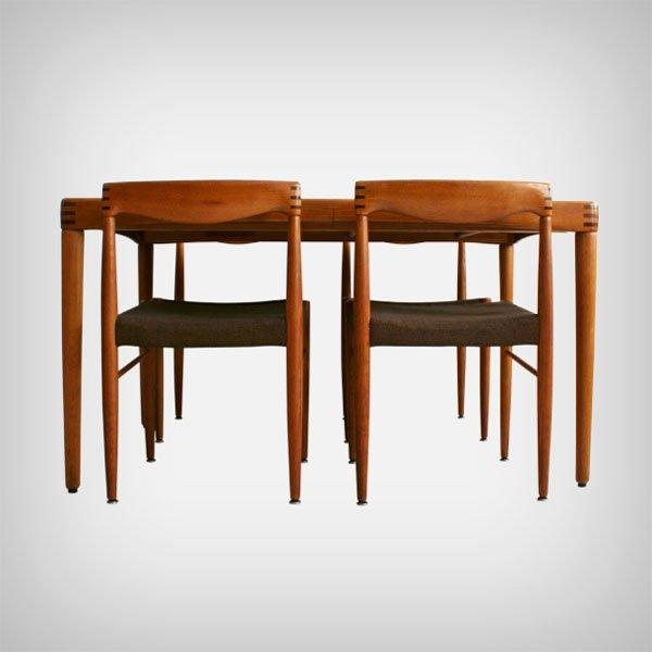 eichenholz esstisch und st hle von henry w klein f r bramin m bler 1970 5er set bei pamono kaufen. Black Bedroom Furniture Sets. Home Design Ideas