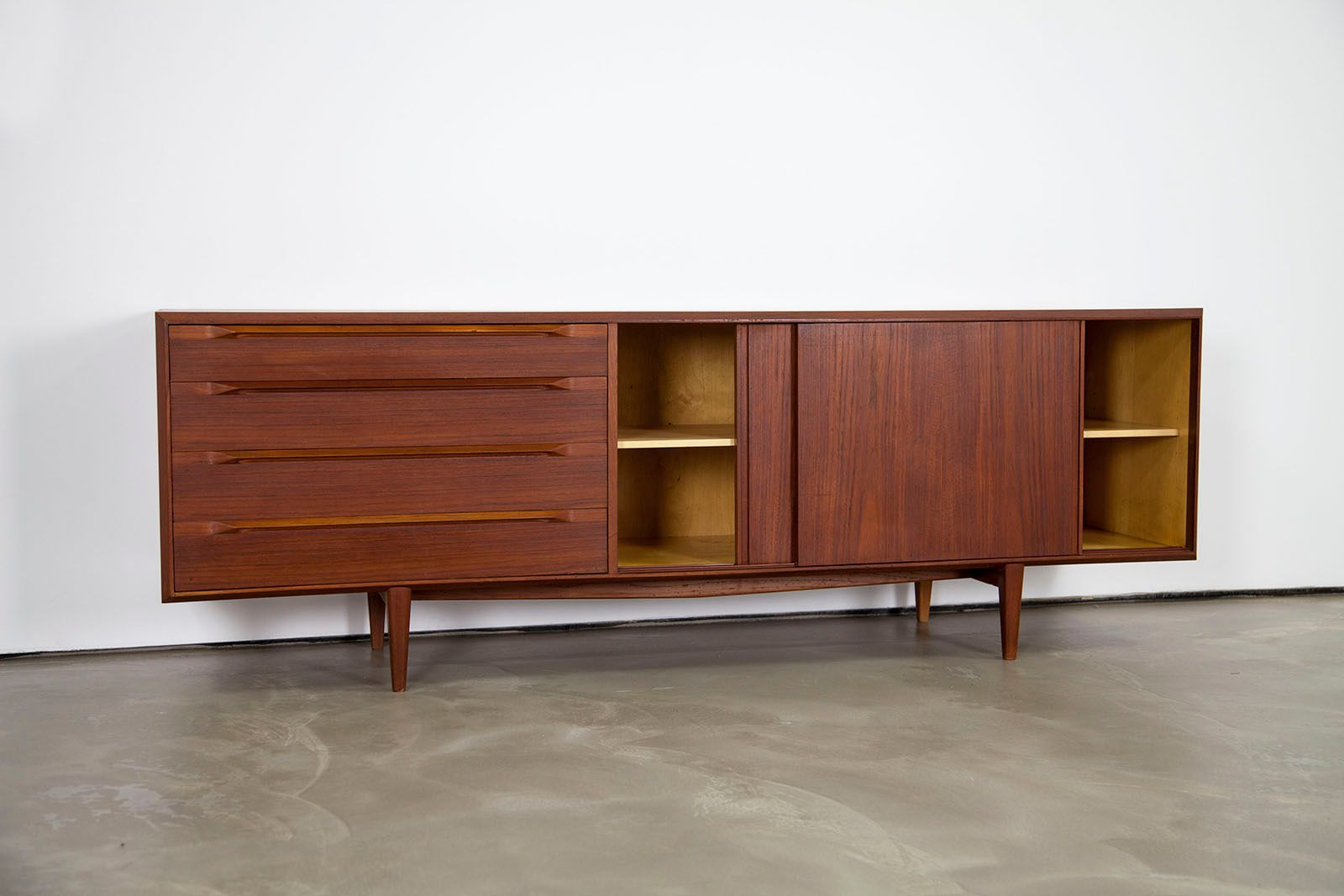 danish mid century modern teak sideboard 1960s for sale. Black Bedroom Furniture Sets. Home Design Ideas