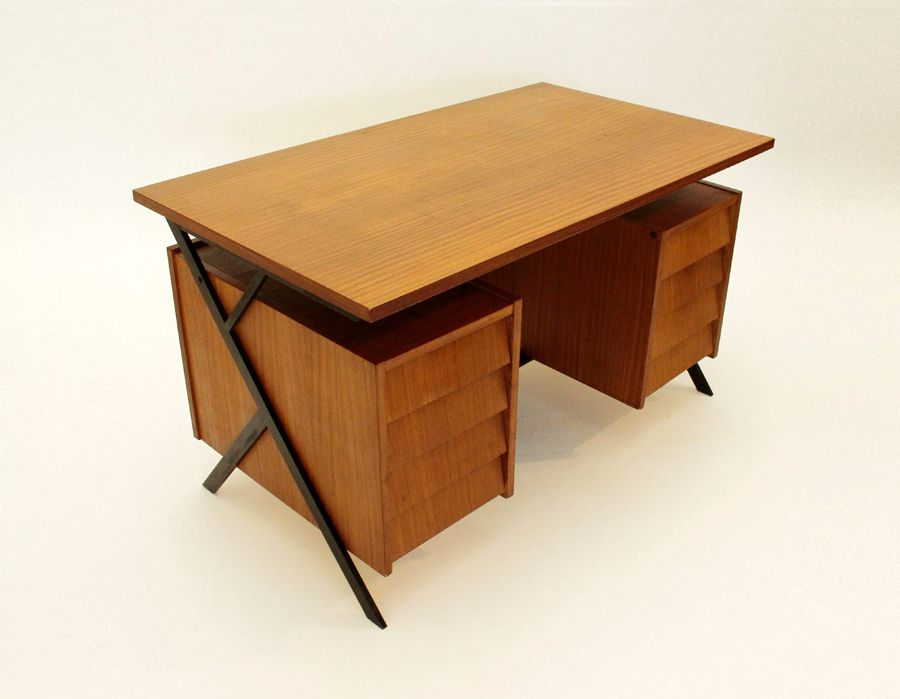 italienischer mid century schreibtisch 1960er bei pamono. Black Bedroom Furniture Sets. Home Design Ideas