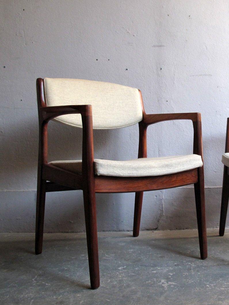 vintage armlehnstuhl aus palisander und stoff bei pamono kaufen. Black Bedroom Furniture Sets. Home Design Ideas