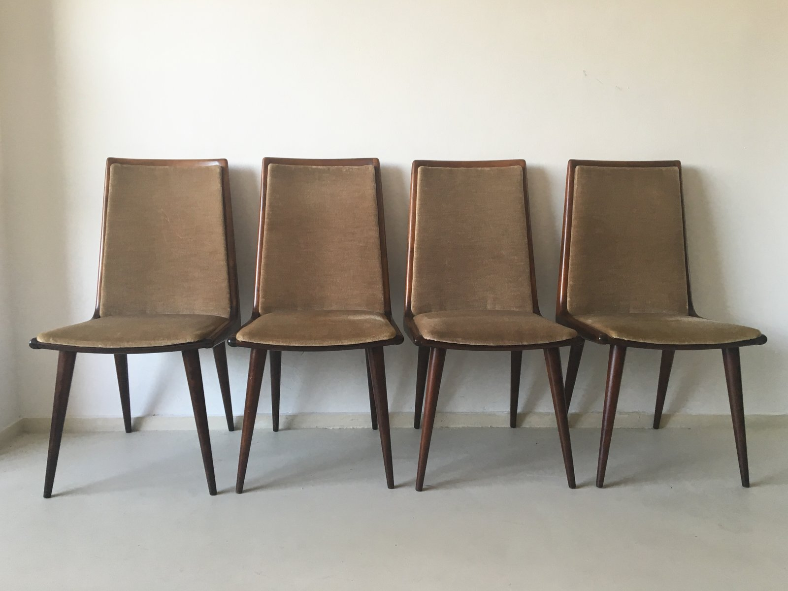 Cherrywood Dining Chairs from Coja Culemborg 1950s Set of 4 for