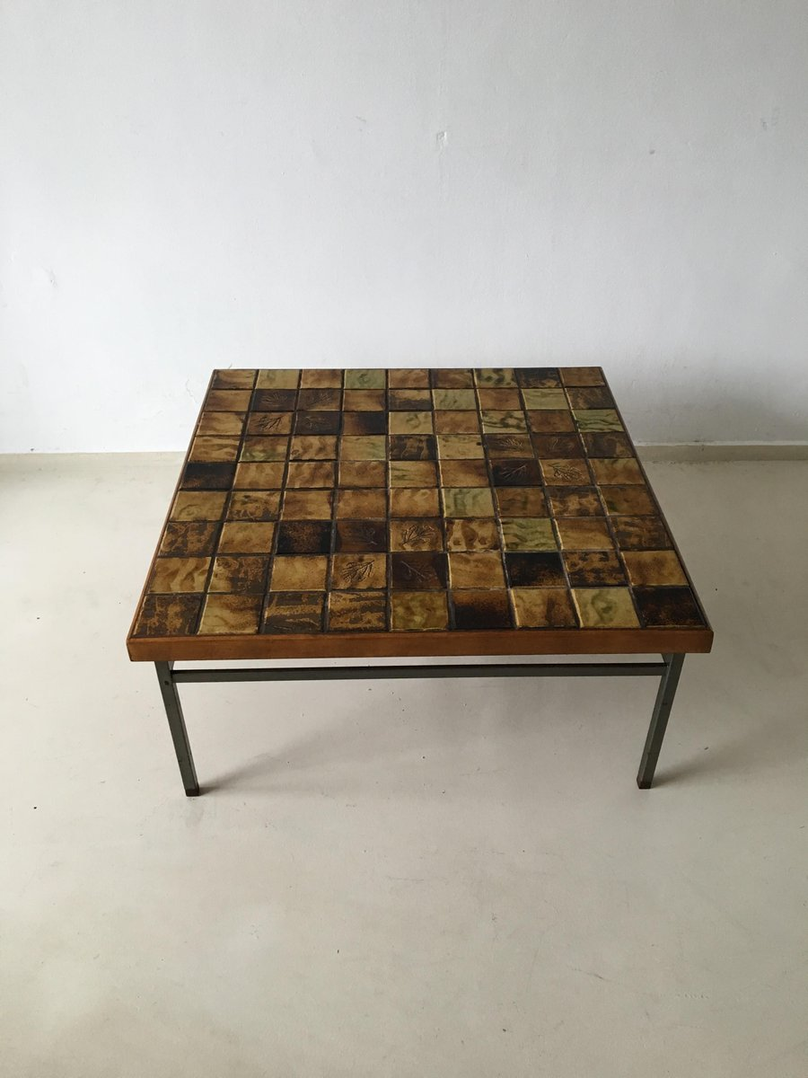 Vintage Mosaic Coffee Table By Webe, 1960s