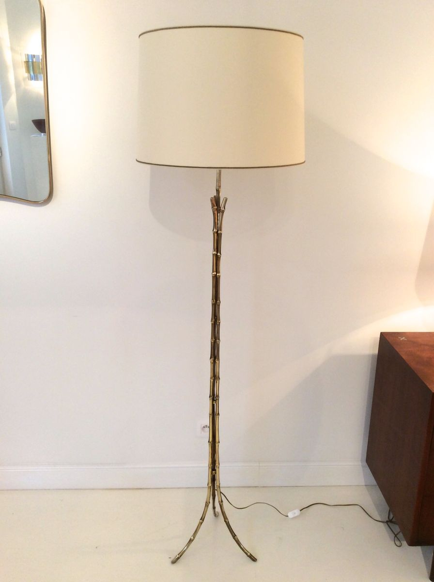 Floor Lamp 1960s : Brass bambou floor lamp s for sale at pamono
