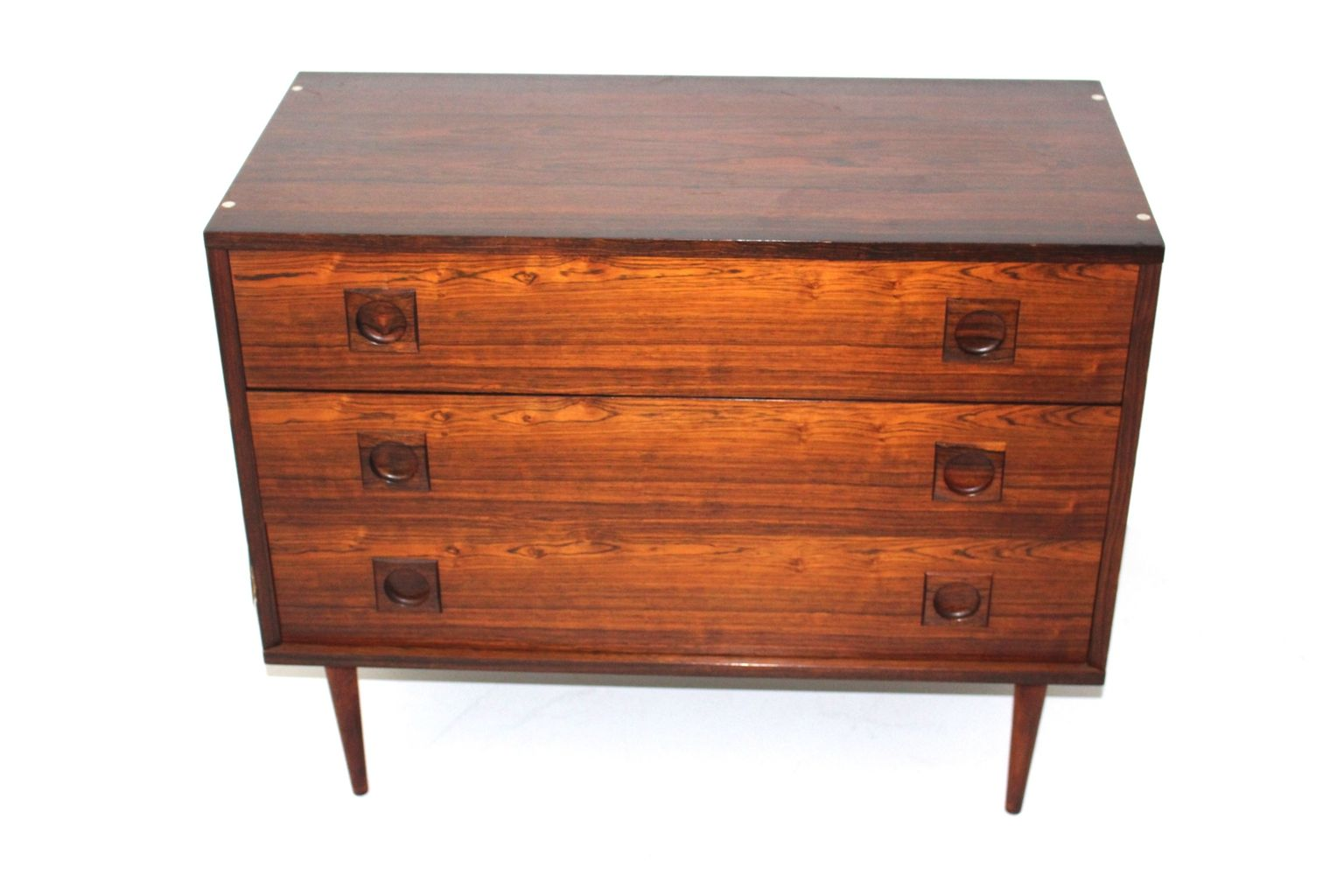 vintage rosewood commode with 3 drawers 1960s for sale at pamono. Black Bedroom Furniture Sets. Home Design Ideas
