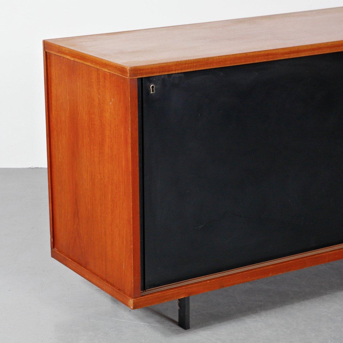 sideboard aus eichenholz metall von cees braakman f r. Black Bedroom Furniture Sets. Home Design Ideas