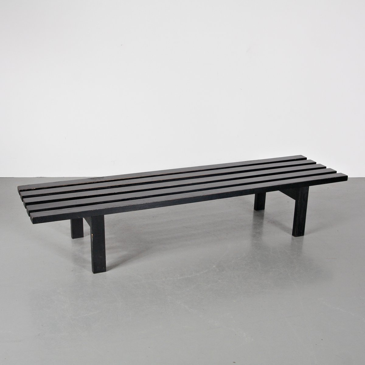 Dutch Long Wooden Bench By Martin Visser For Spectrum Circa 1950 For Sale At Pamono