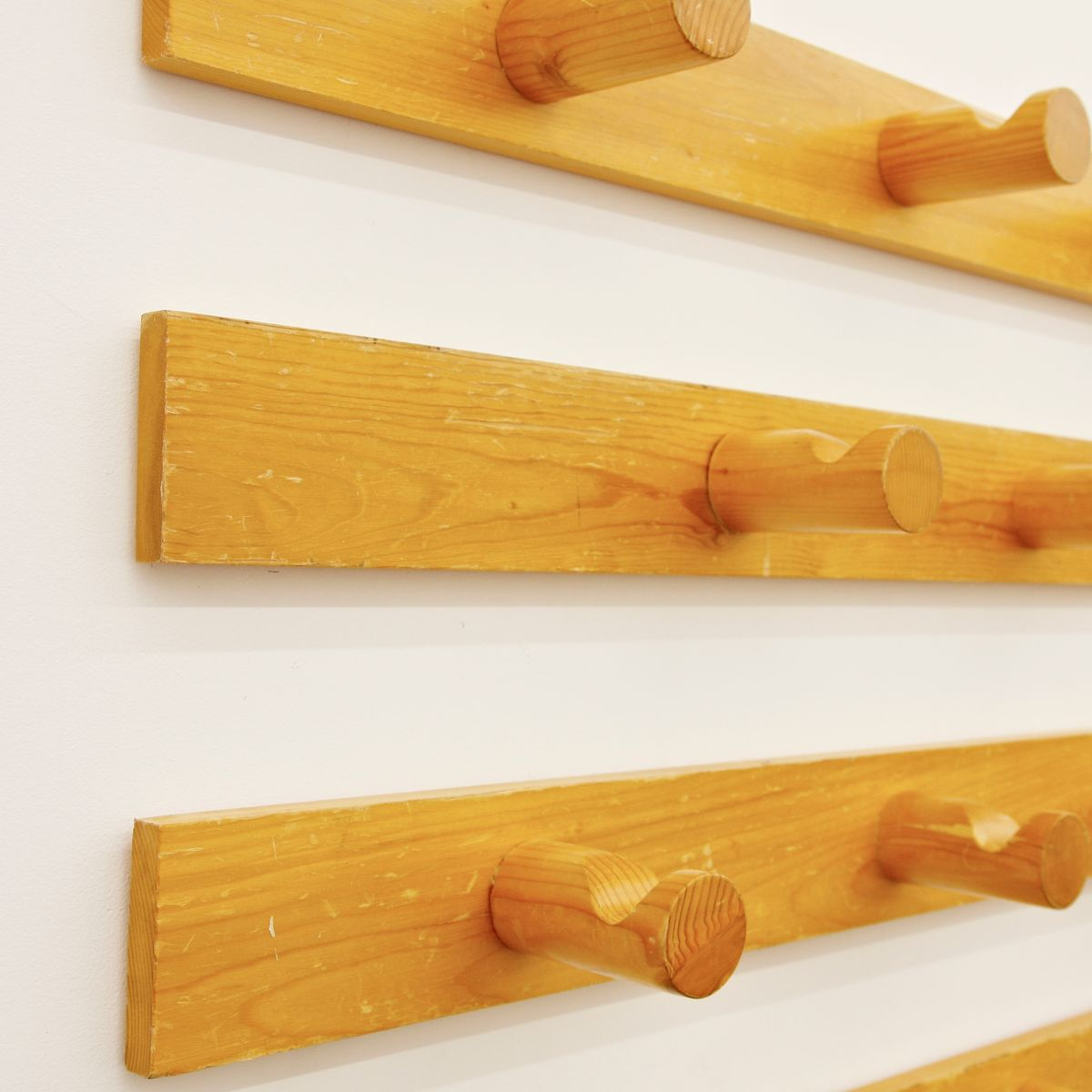 Marvelous photograph of French Pine Wood Coat Rack by Charlotte Perriand for Les Arcs Set of  with #8F4920 color and 1200x1200 pixels