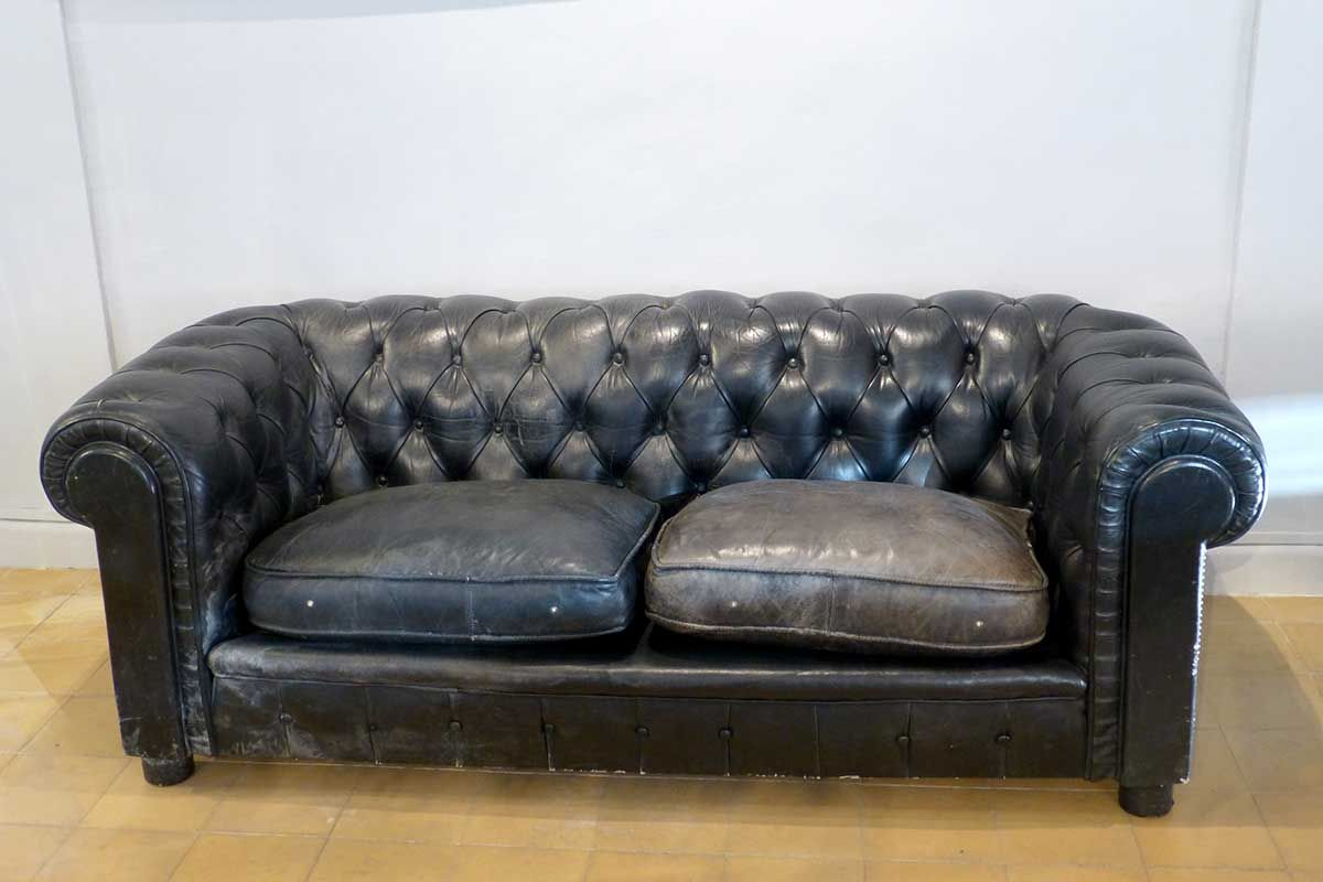 c215a093837 Vintage 2 Seater Leather Chesterfield Sofa for sale at Pamono. Chesterfield  LoveSeat.