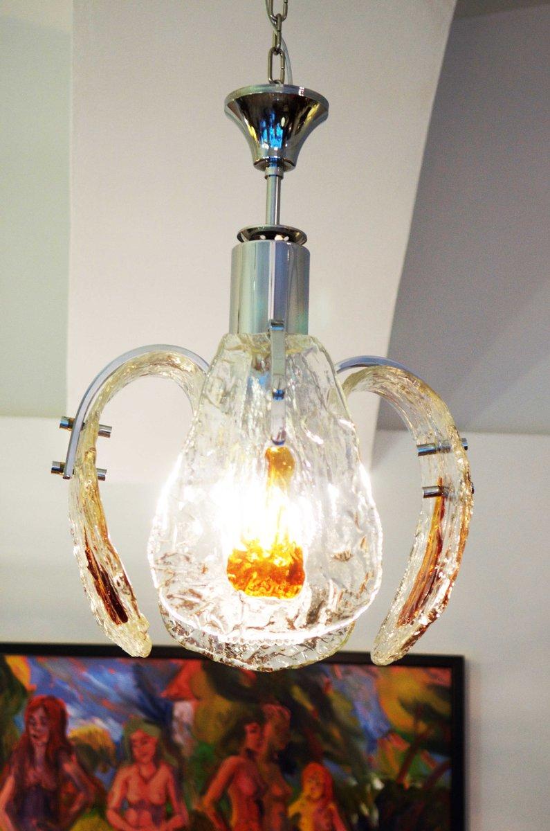 lustre mazzega en verre de murano en vente sur pamono. Black Bedroom Furniture Sets. Home Design Ideas
