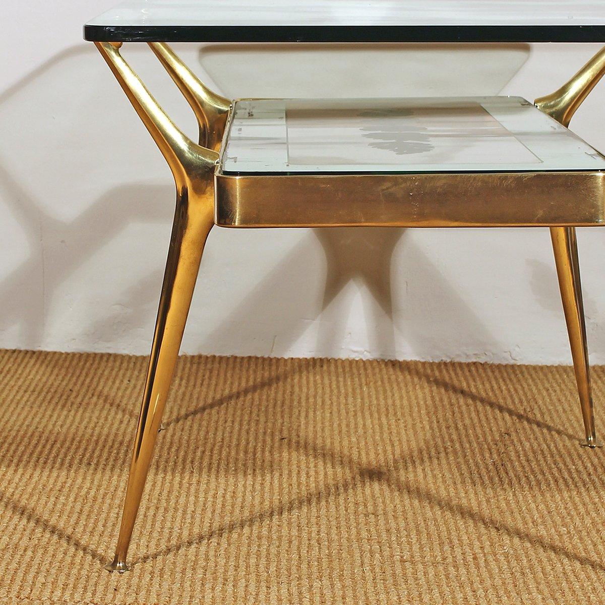 Italian Glass & Brass Coffee Table, 1950s 7. $2,688.00. Price per piece - Italian Glass & Brass Coffee Table, 1950s For Sale At Pamono