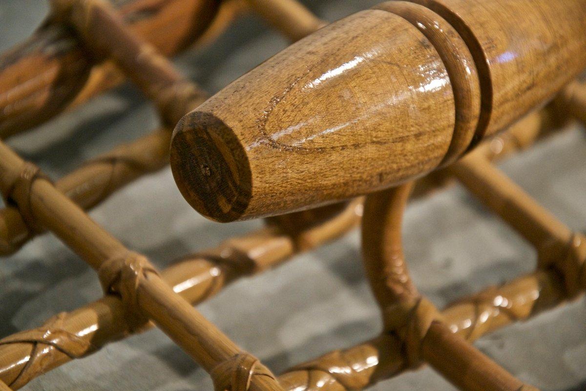italienische bambus garderobe bei pamono kaufen. Black Bedroom Furniture Sets. Home Design Ideas