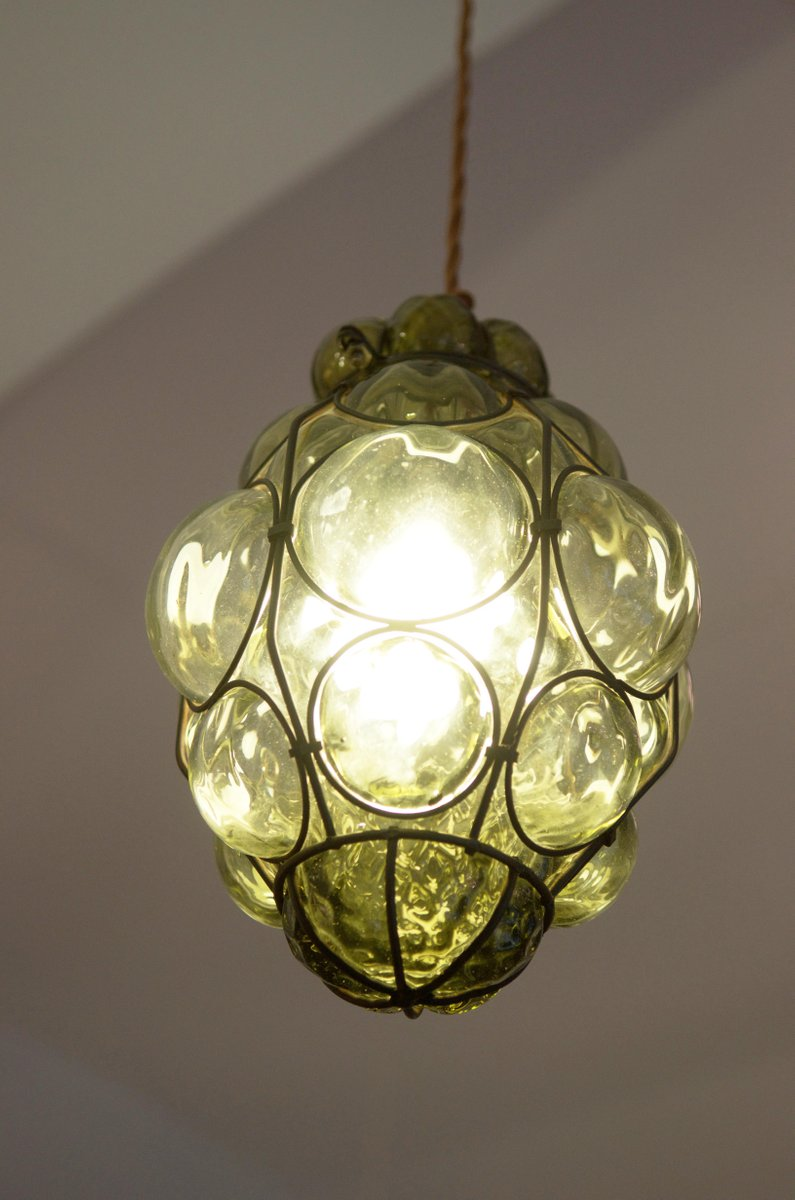 murano caged glass pendant light from seguso for sale at pamono. Black Bedroom Furniture Sets. Home Design Ideas