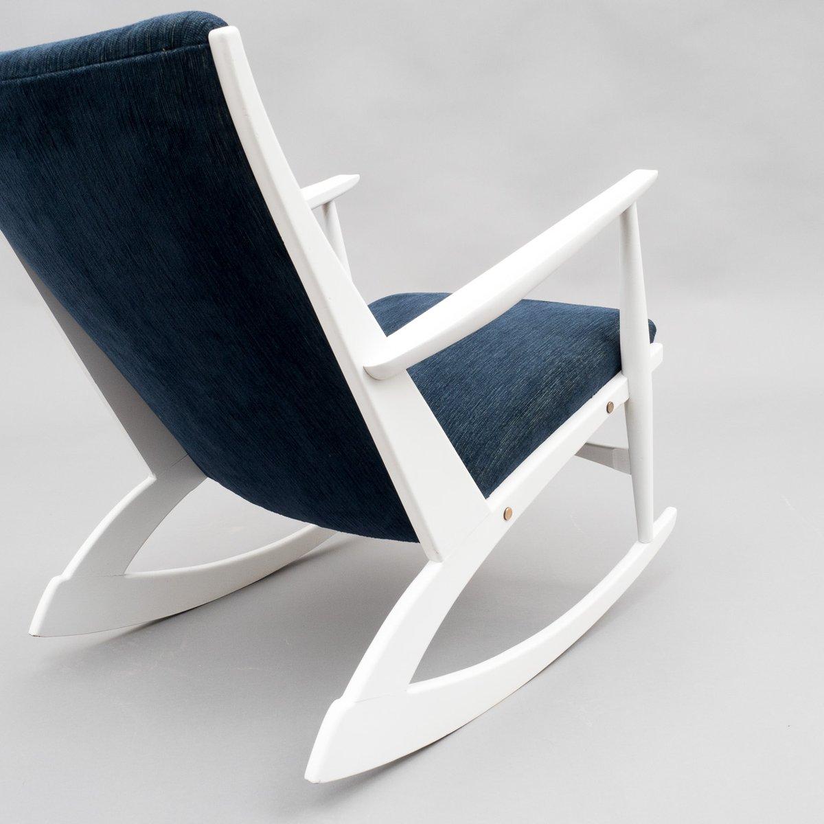 rocking chair avec repose pied 1960s en vente sur pamono. Black Bedroom Furniture Sets. Home Design Ideas
